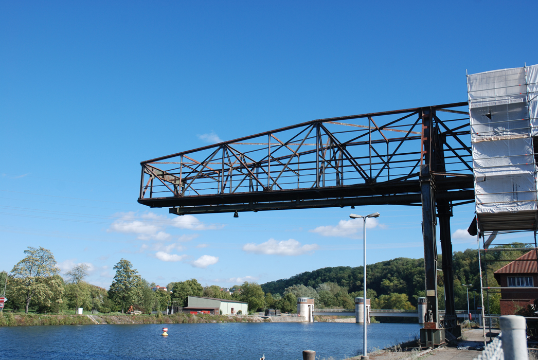 Stahlbrücke, Marbach am Neckar