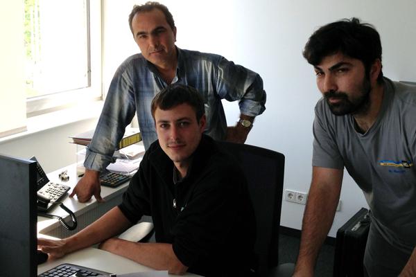 Hami Kocak, Marco Koller und Nihat Kocak (v. l.).